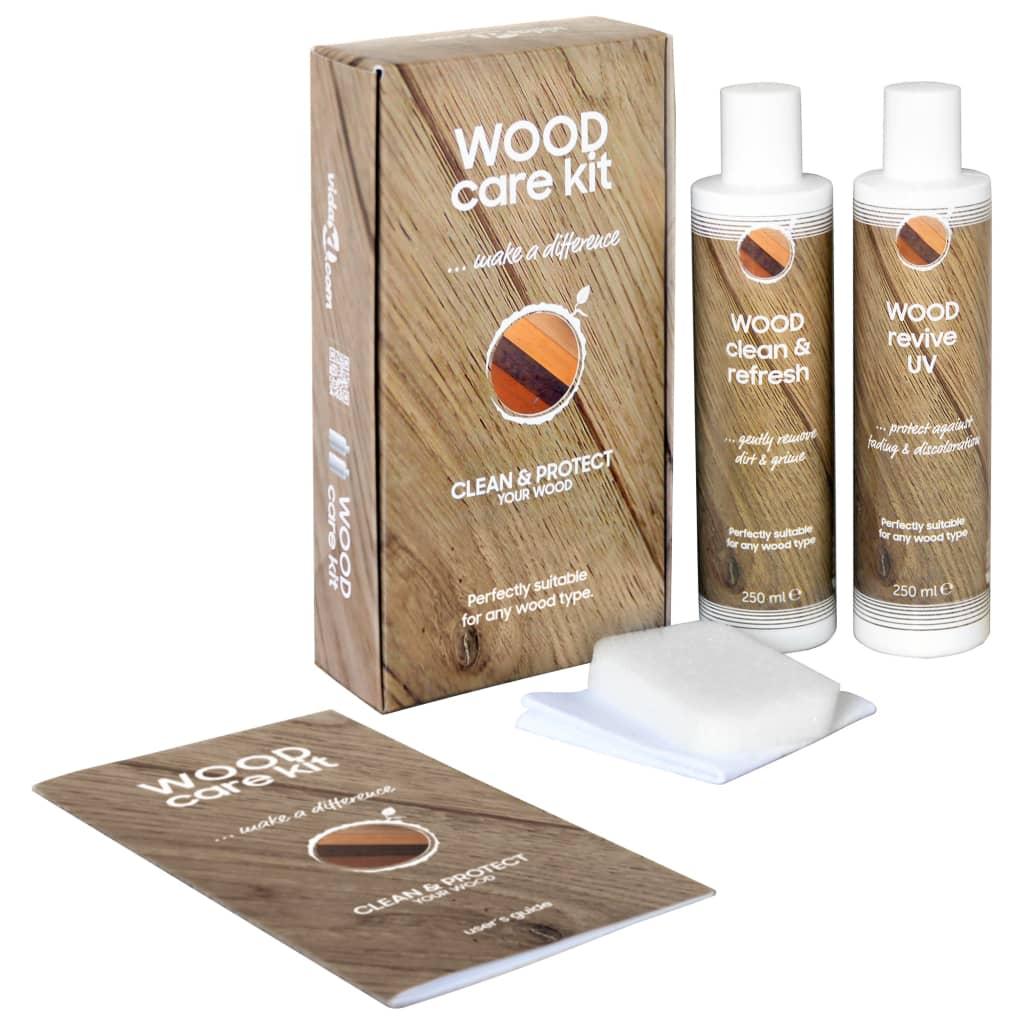 vidaXL Kit d'entretien du bois CARE KIT 2x250 ml