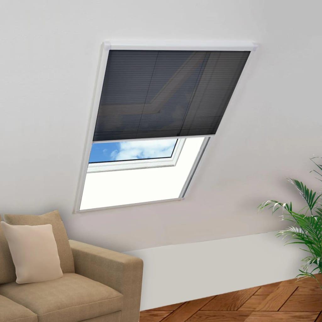 vidaXL Moustiquaire plissée pour fenêtre Aluminium 80 x 100 cm