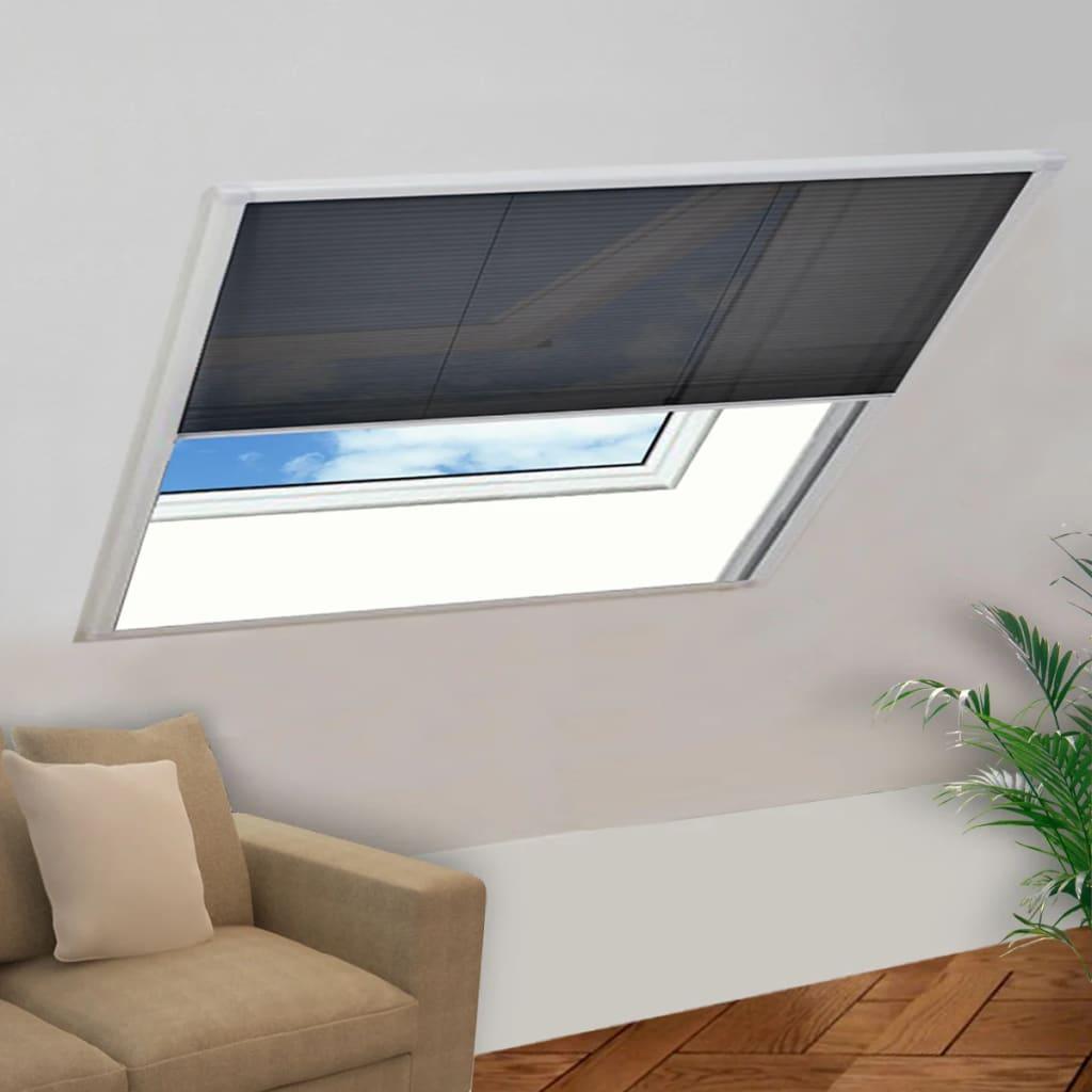 vidaXL Moustiquaire plissée pour fenêtre Aluminium 120 x 120 cm