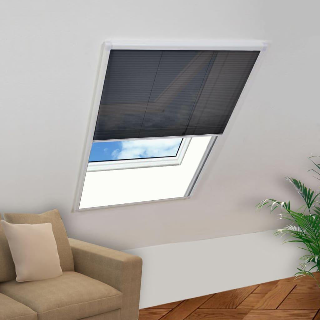 vidaXL Moustiquaire plissée pour fenêtre 110 x 160 cm
