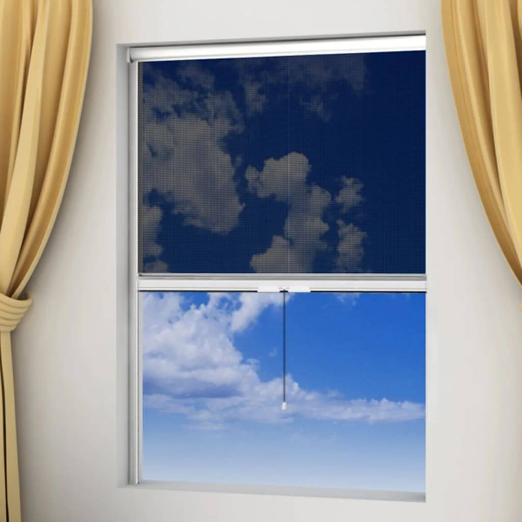 vidaXL Moustiquaire enroulable blanche pour fenêtre 80 x 170 cm