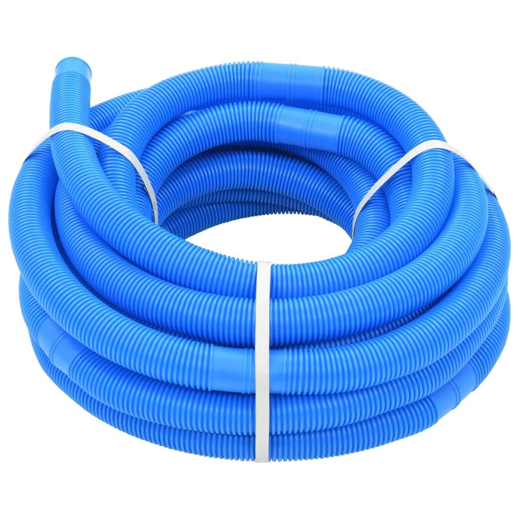 vidaXL Tuyau de piscine Bleu 32 mm 15,4 m