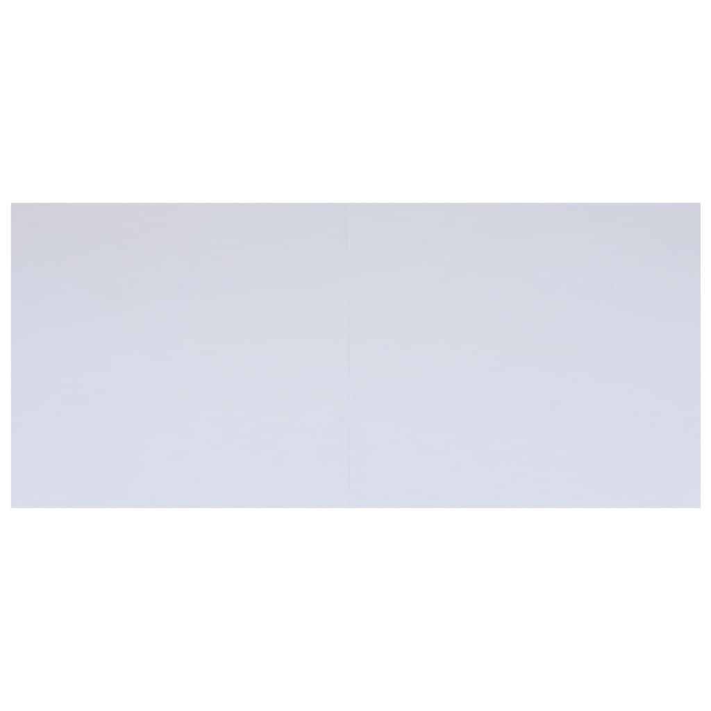vidaXL Bâche de sol de piscine Blanc 610x360 cm Géotextile