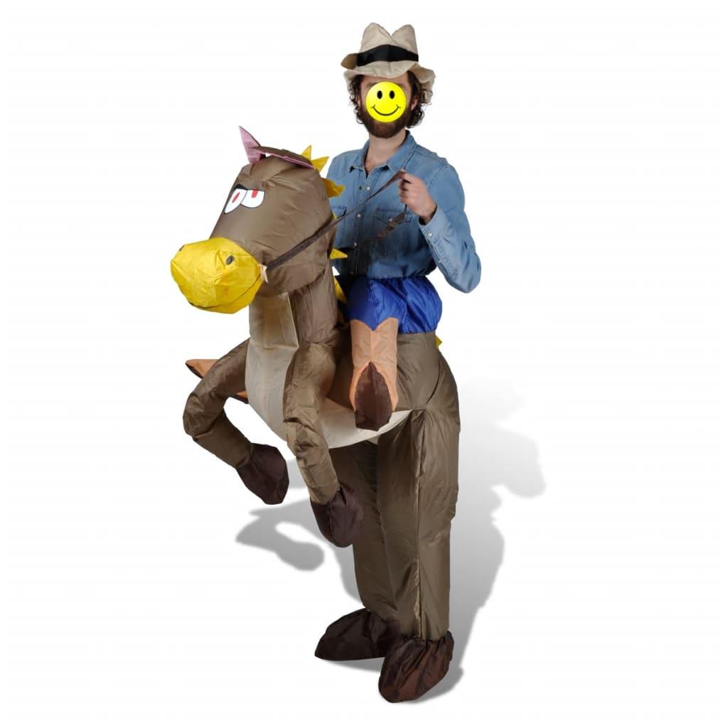 vidaXL Costume de cow-boy et cheval gonflable