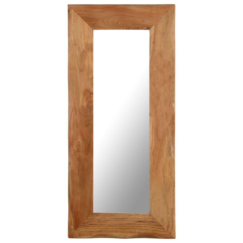 vidaXL Miroir cosmétique 50x110 cm Bois solide d'acacia