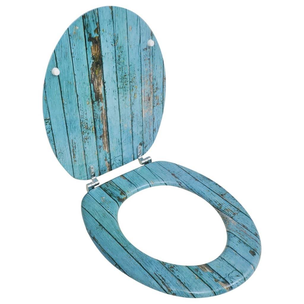 vidaXL Siège de toilette avec couvercle en MDF Design de vieux bois