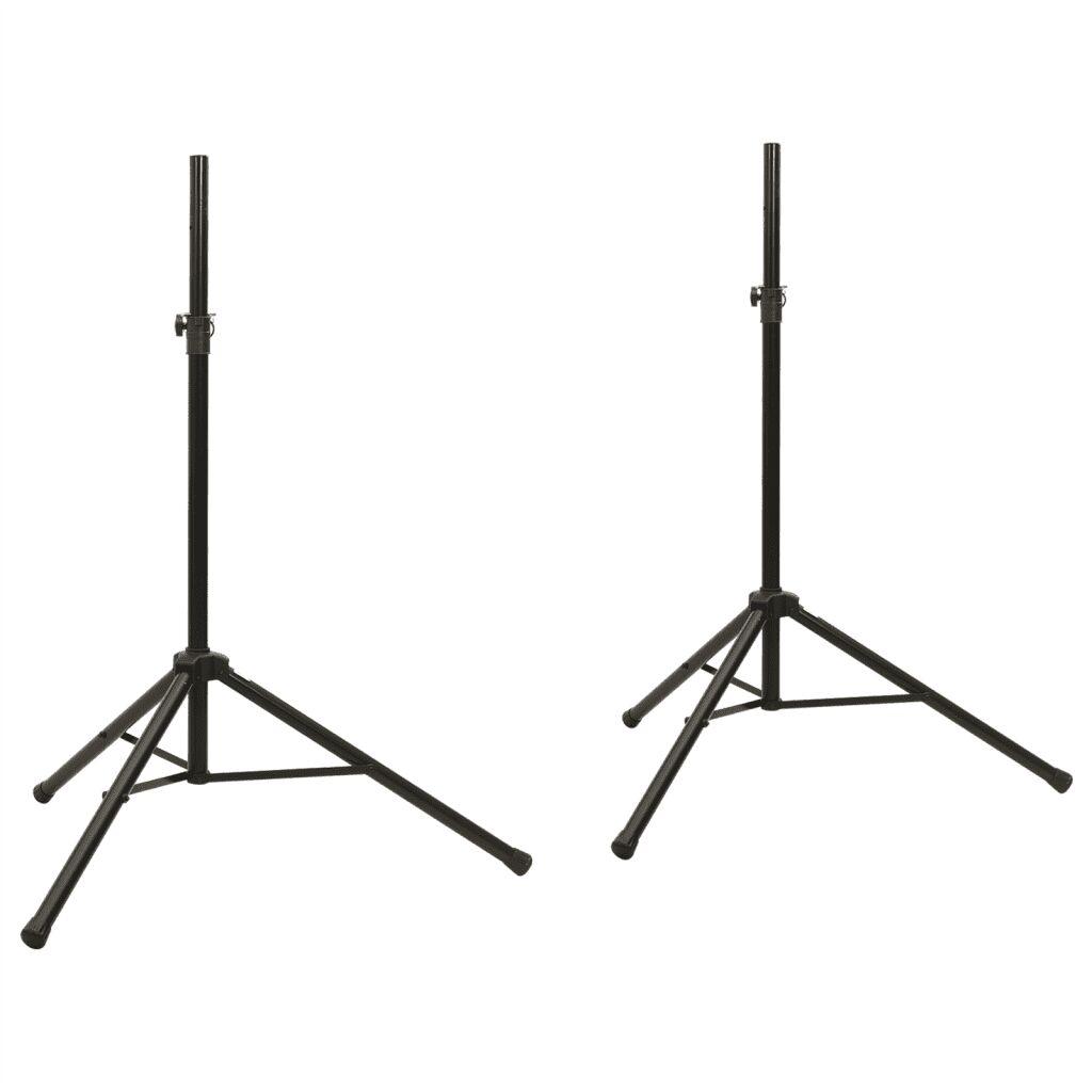 vidaXL Pied de microphone réglable en hauteur 2 pièces