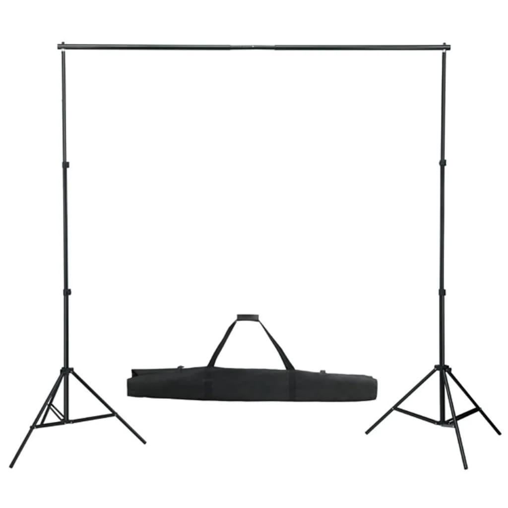 vidaXL Système de toile de fond télescopique 155-300 cm