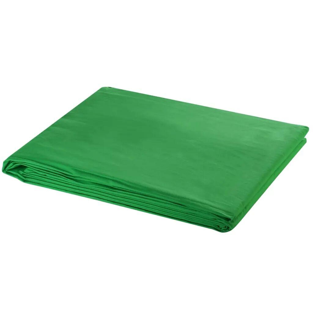 vidaXL Toile de fond Coton Vert 600 x 300 cm Incrustation