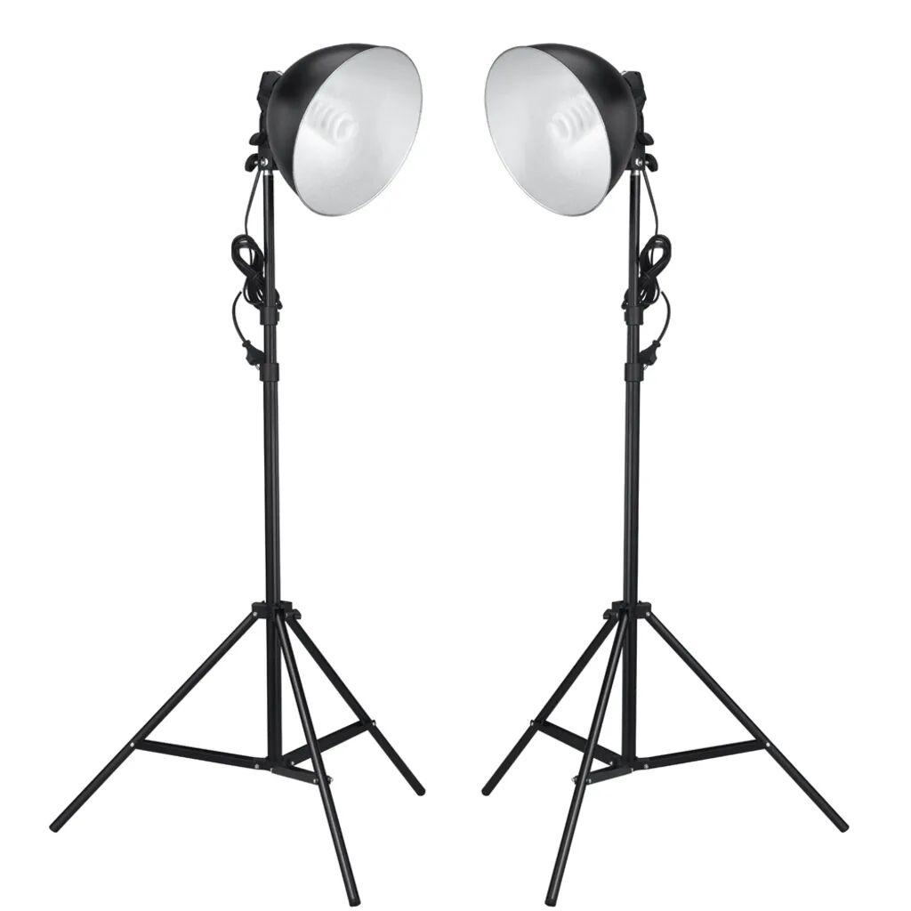 vidaXL Lampes réflecteur photo 45 W avec trépieds