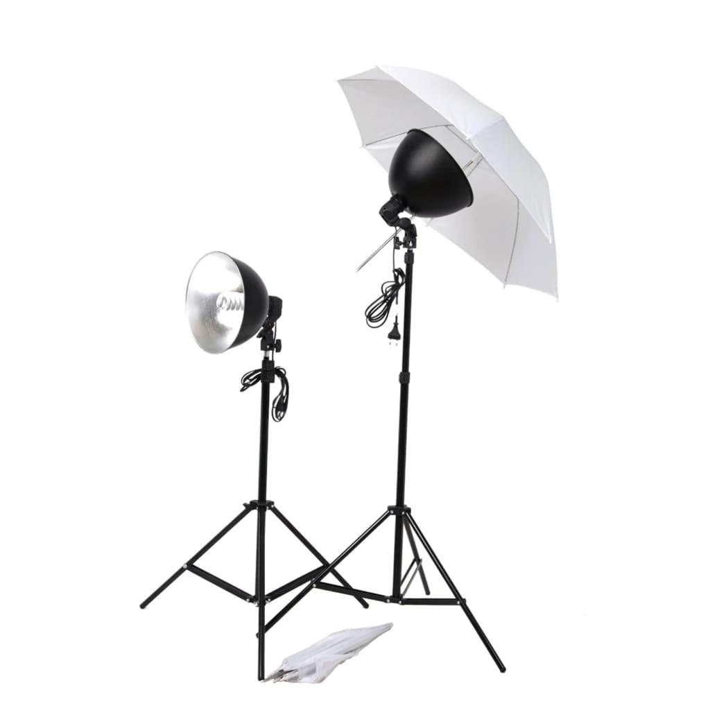 vidaXL Kit studio 2 lampes daylight & accessoires