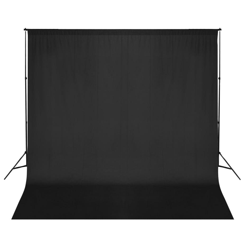 vidaXL Système de support de toile de fond de photo 600 x 300 cm Noir