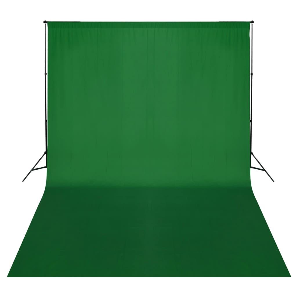 vidaXL Système de support de toile de fond 500 x 300 cm Vert