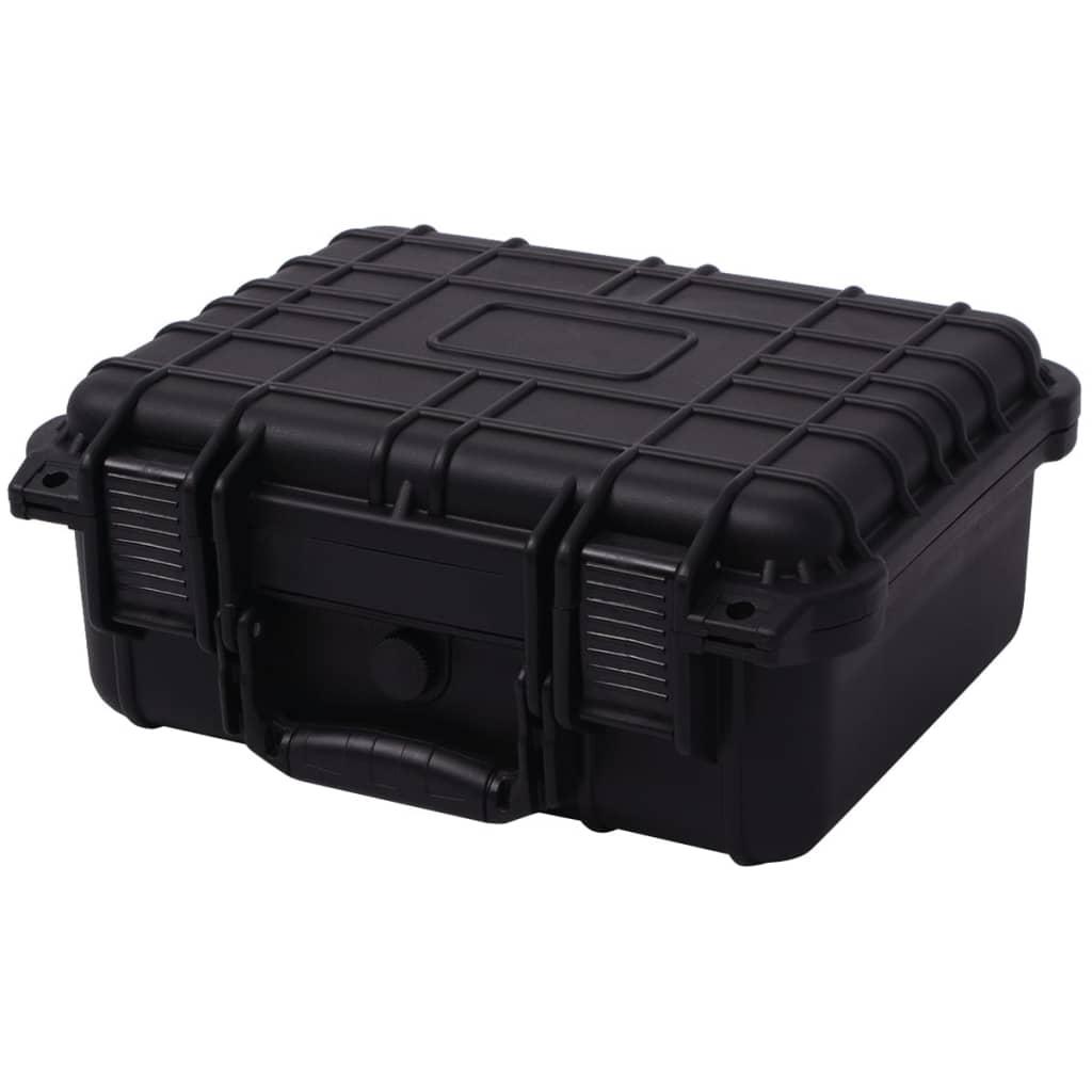 vidaXL Boîte de protection pour équipement 35 x 29,5 x 15 cm noir