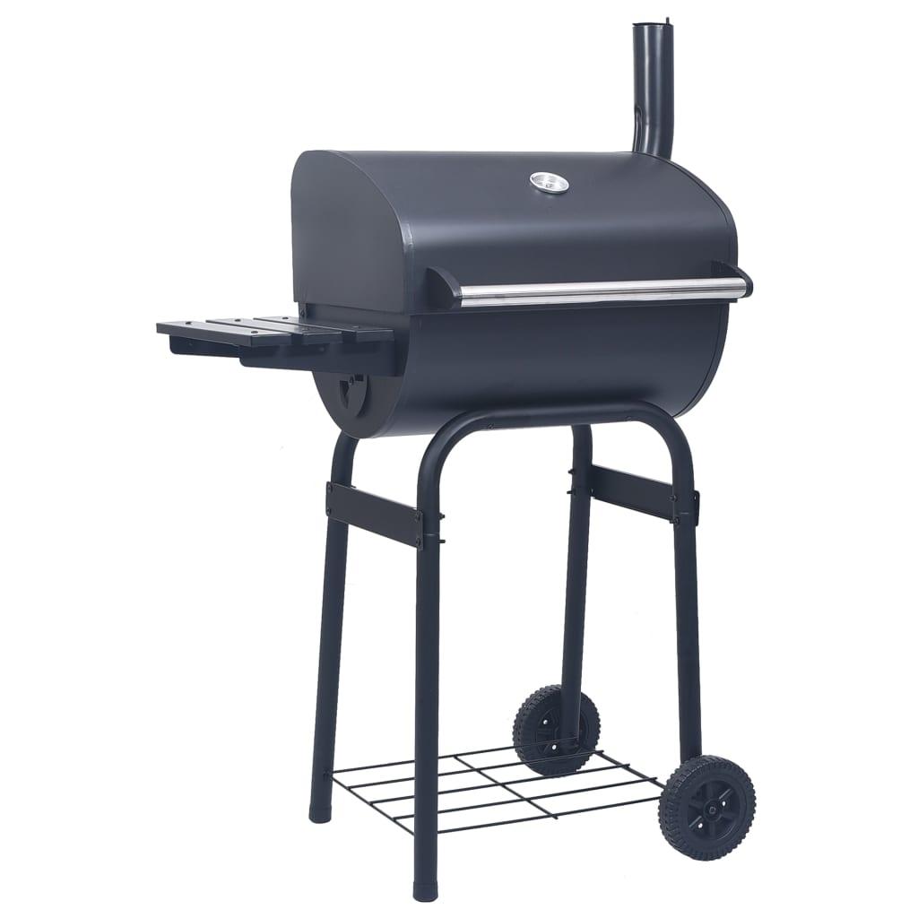 vidaXL Gril barbecue au charbon avec étagère inférieure Noir