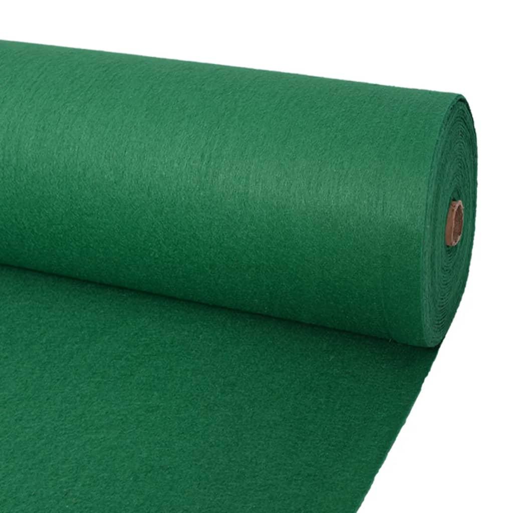 vidaXL Tapis pour exposition 1 x 24 m vert