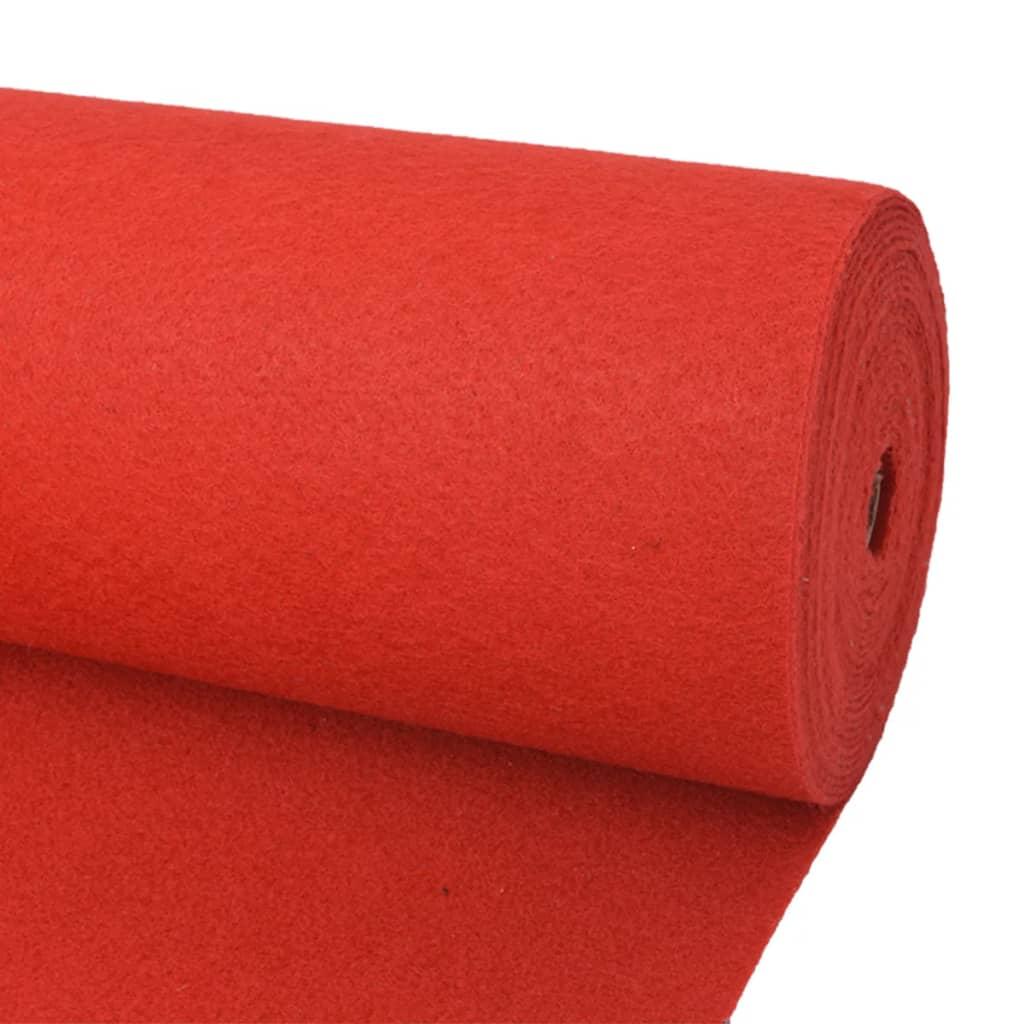 vidaXL Tapis pour exposition 1 x 24 m rouge