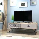 vidaXL Table auxiliaire TV 100 x 40 x 35 cm Marron