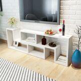vidaXL Meuble TV double en forme de L Blanc