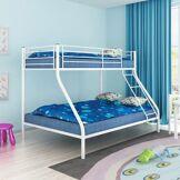 vidaXL Cadre de lit superposé pour enfant 200x140/200x90cm métal blanc