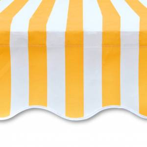 vidaXL Toile d'auvent Orange et blanc 350x250 cm