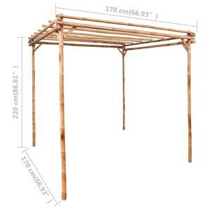 vidaXL Pergola Bambou 170x170x220 cm