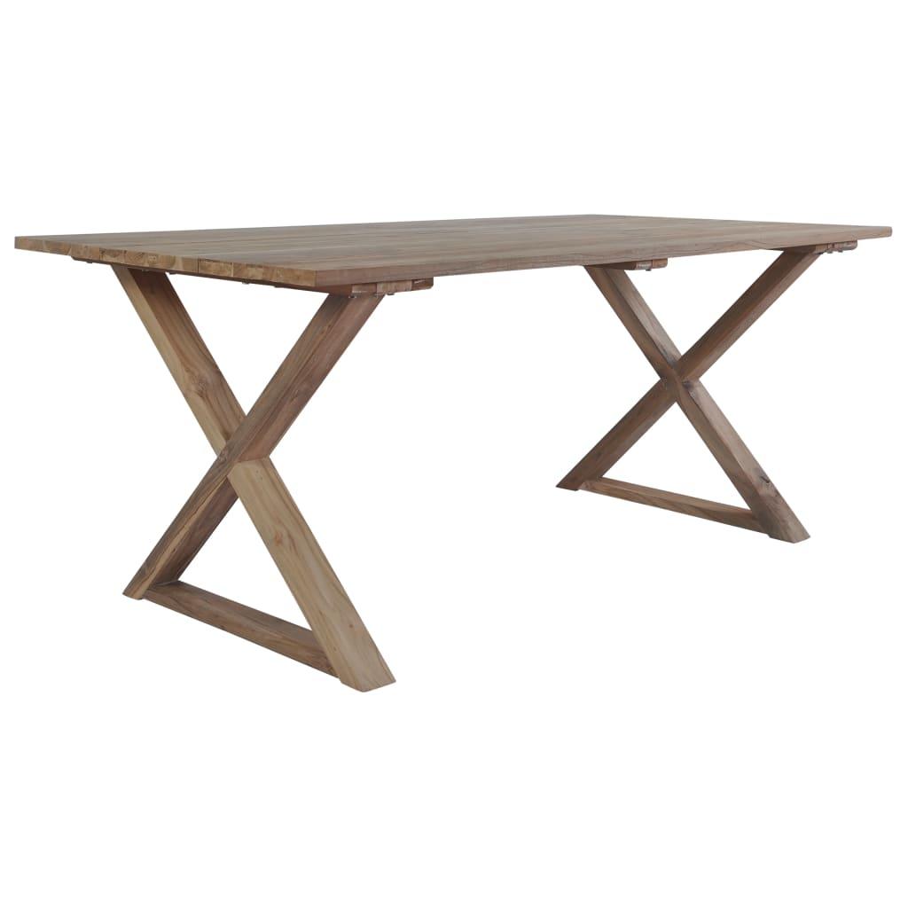 vidaXL Table de jardin 180x90x76cm Bois de teck de récupération solide