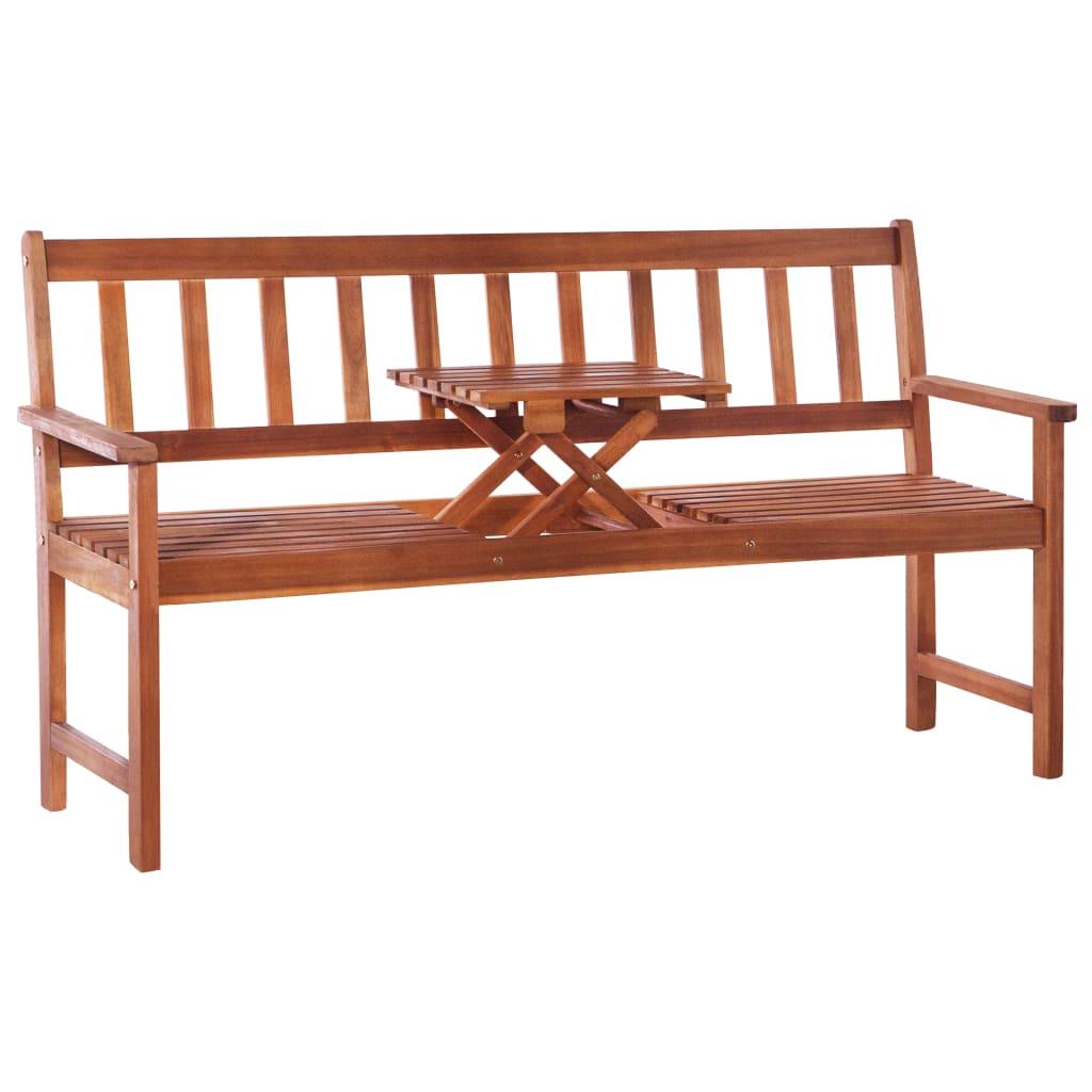 vidaXL Banc de jardin 3 places et table 158 cm Bois d'acacia Marron