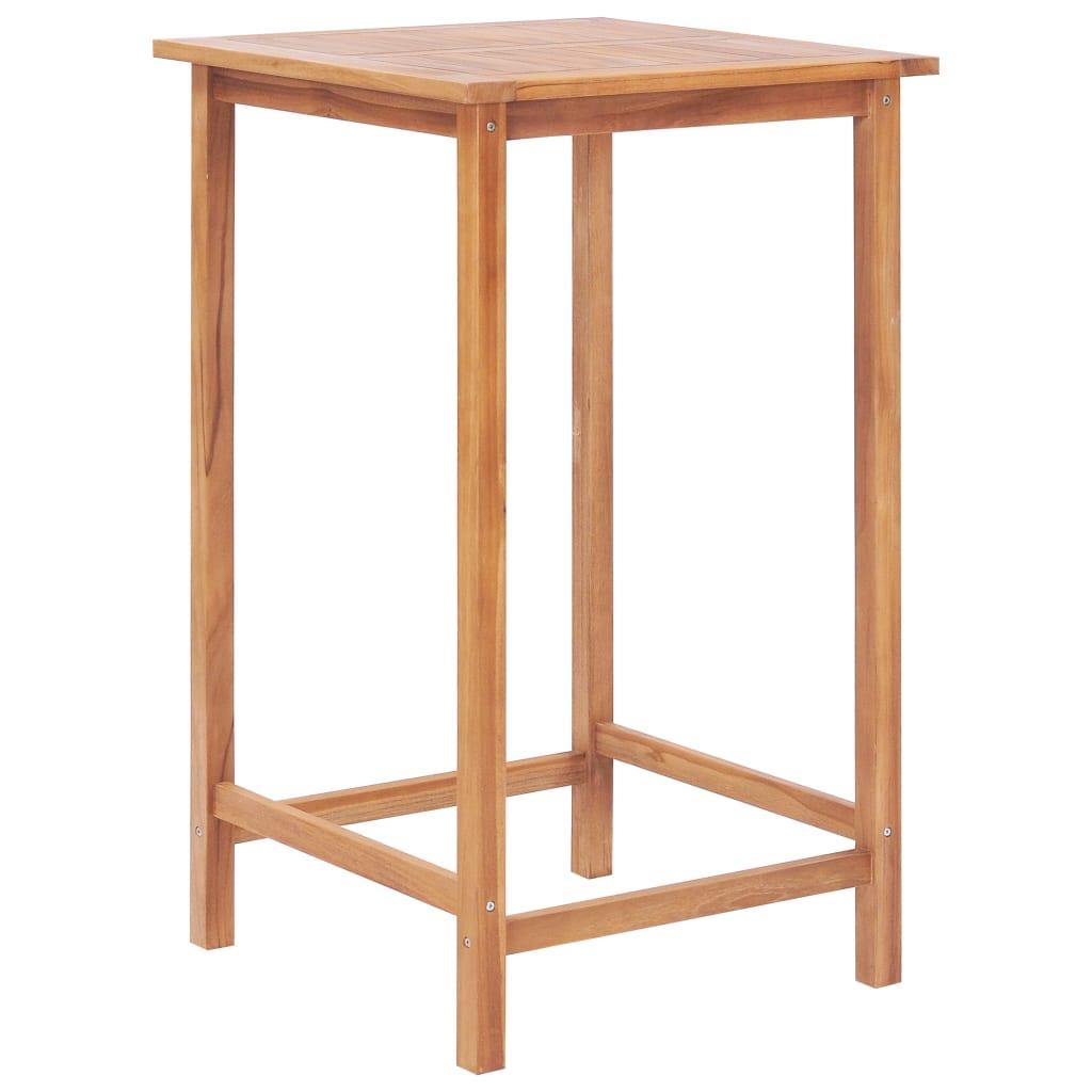 vidaXL Table de bar de jardin 65 x 65 x 110 cm Bois de teck solide