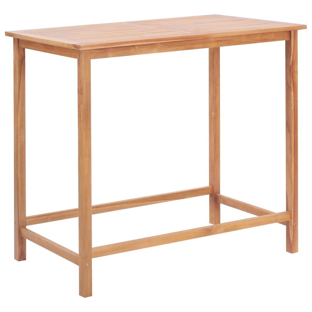vidaXL Table de bar de jardin 120x65x110 cm Bois de teck solide