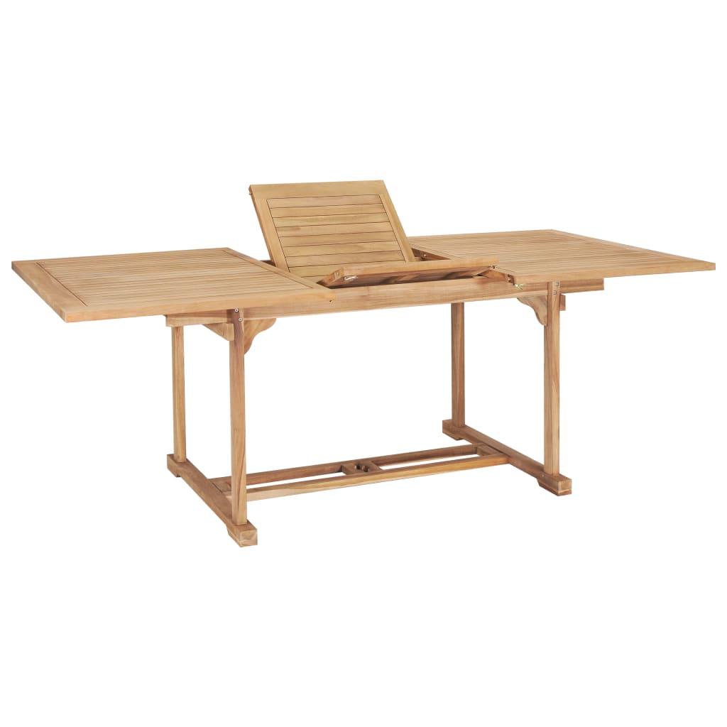 vidaXL Table de jardin extensible 150-200x100x75 cm Teck solide