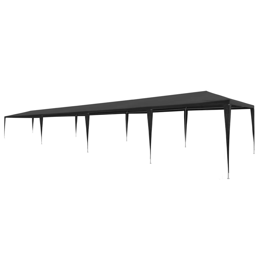 vidaXL Tente de réception 3 x 12 m PE Anthracite