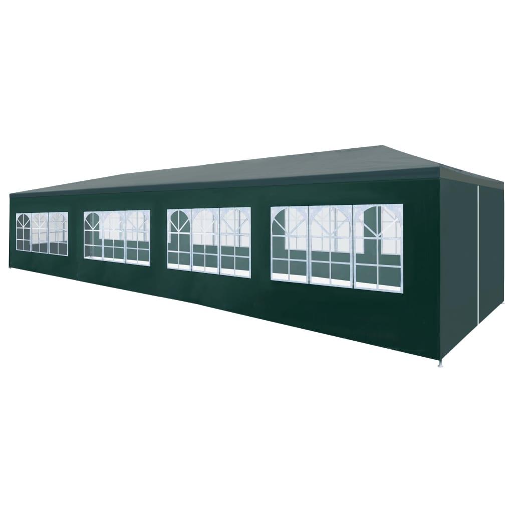 vidaXL Tente de réception 3 x 12 m Vert