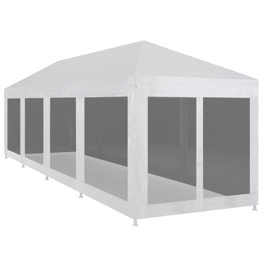 vidaXL Tente de réception avec 10 parois en maille 12 x 3 m
