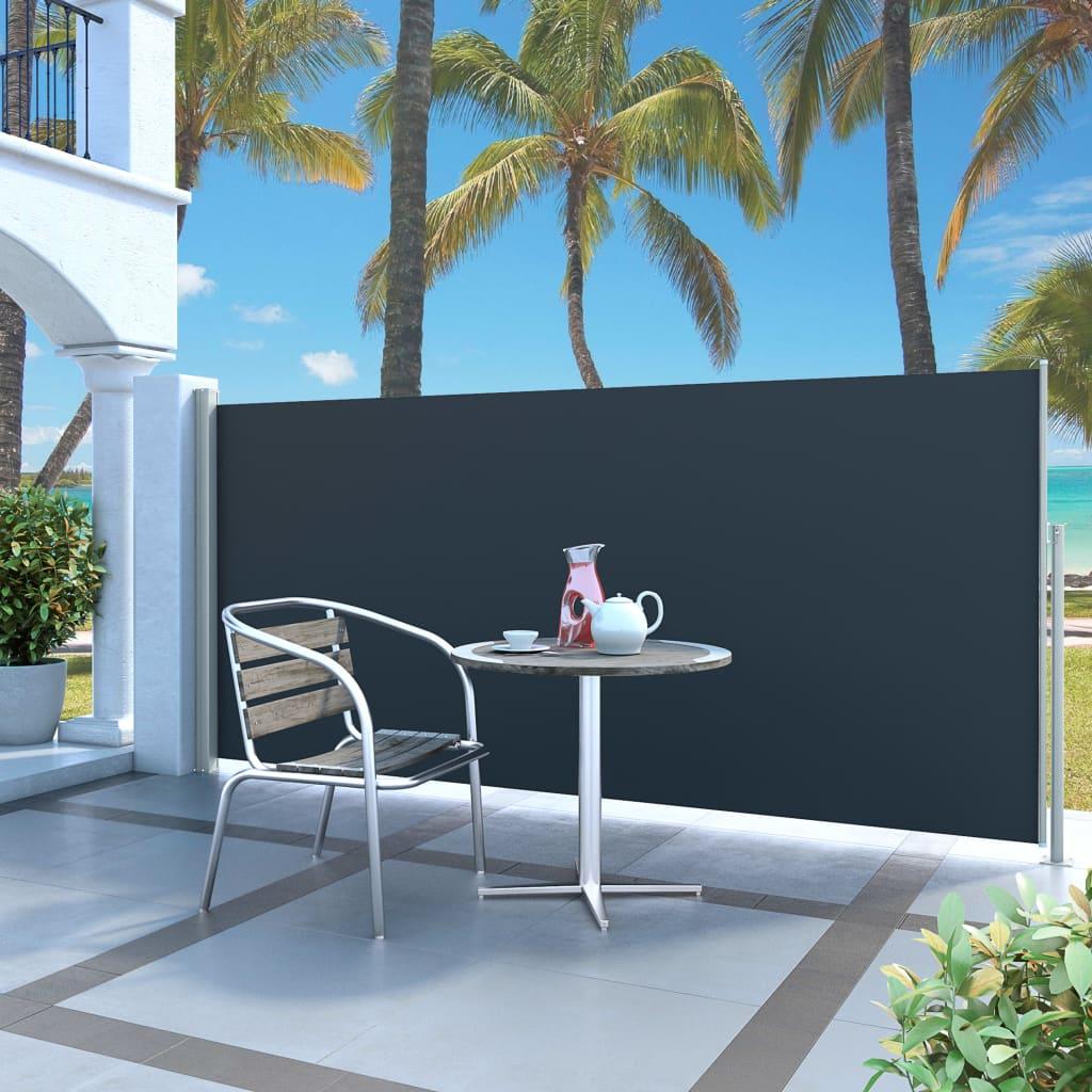 vidaXL Auvent latéral rétractable 140 x 300 cm Noir