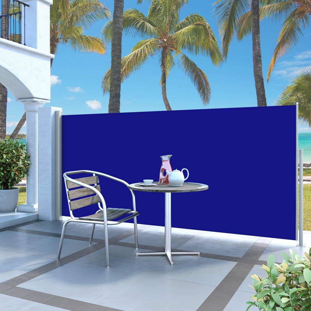 vidaXL Auvent latéral rétractable 140 x 300 cm Bleu