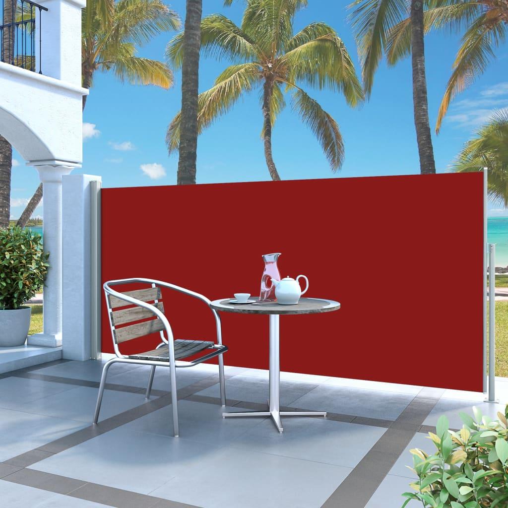 vidaXL Auvent latéral rétractable 140 x 300 cm Rouge