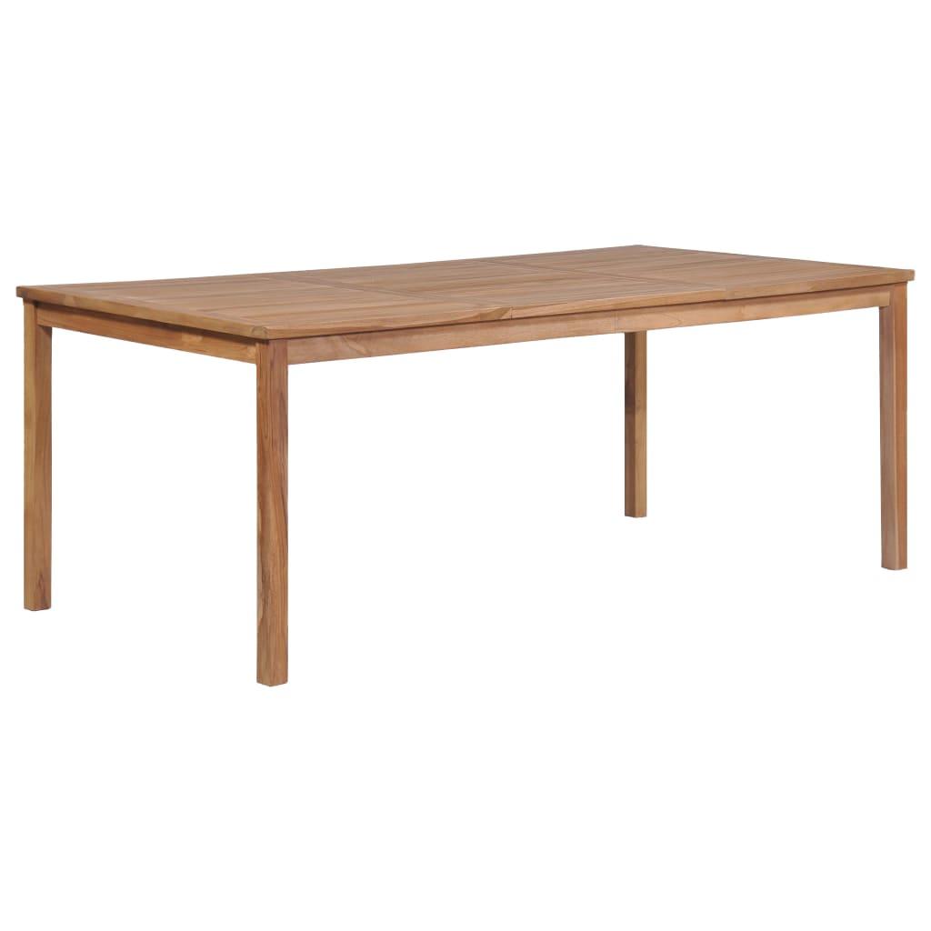vidaXL Table de jardin 200x100x77 cm Bois solide de teck