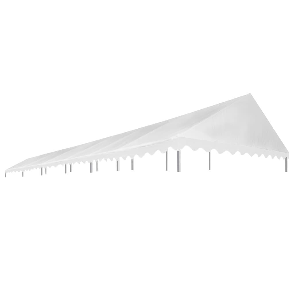 vidaXL Toit de rente de réception 6x12 m Blanc 450 g/m²