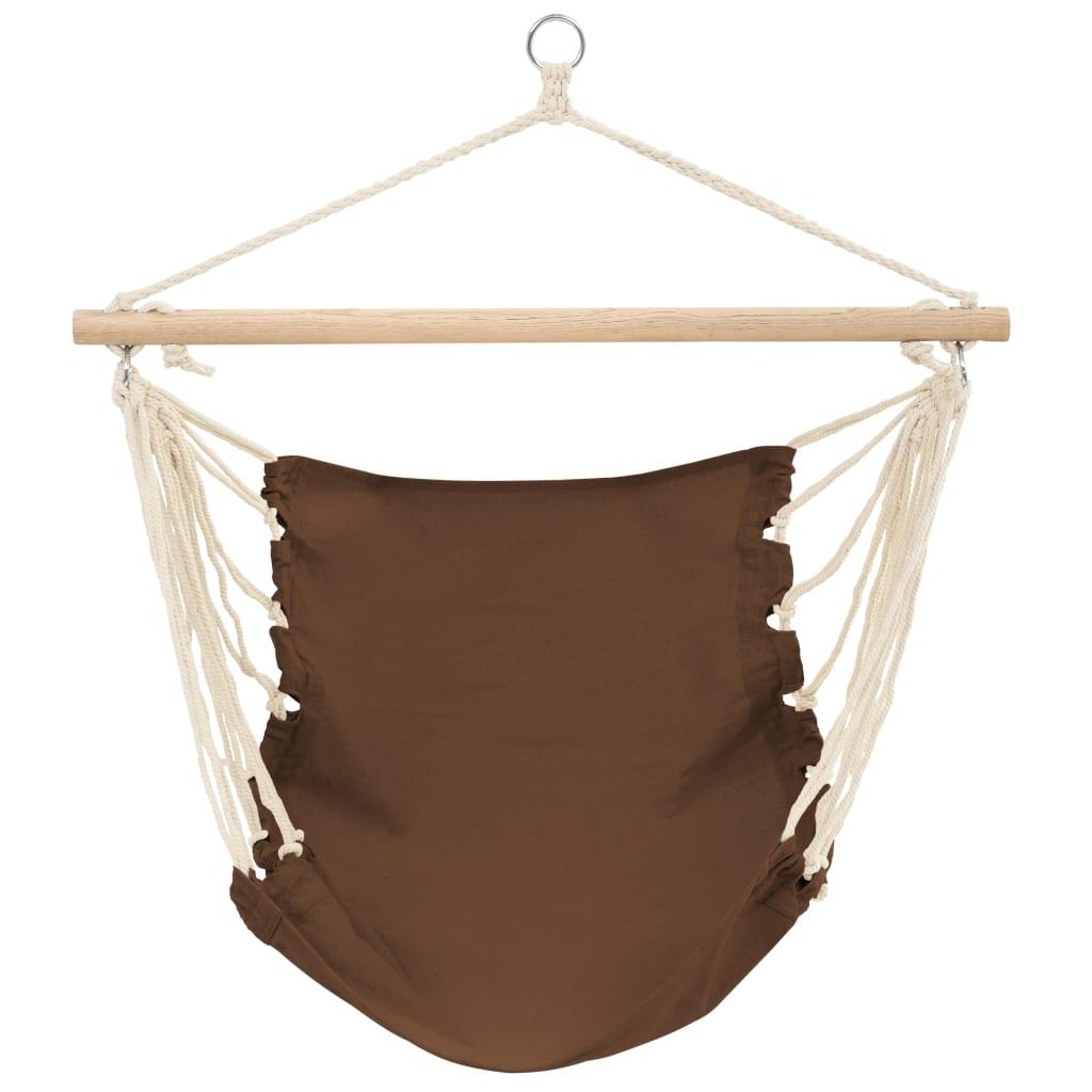vidaXL Hamac chaise 100 x 80 cm CHOCOLAT