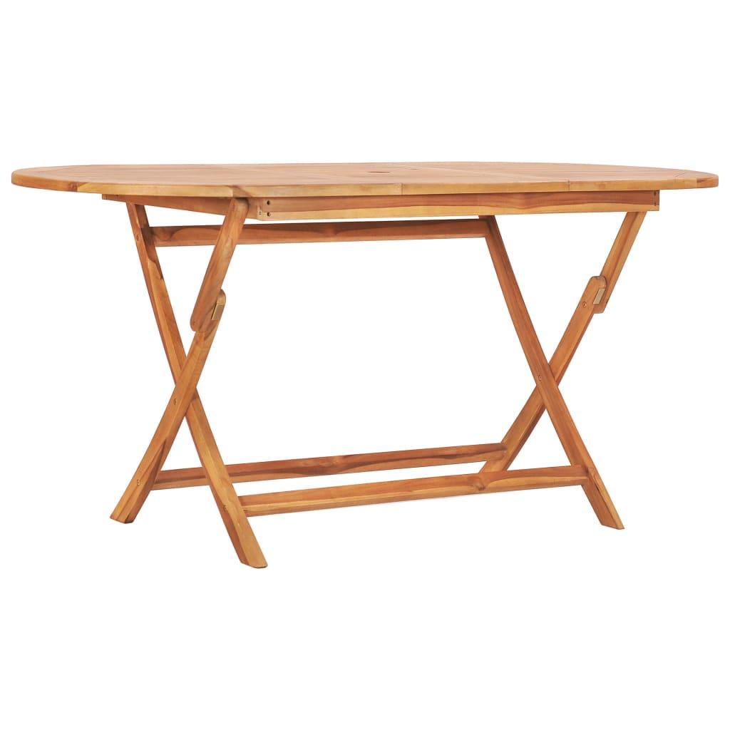 vidaXL Table pliable de jardin 160x80x75 cm Bois de teck solide