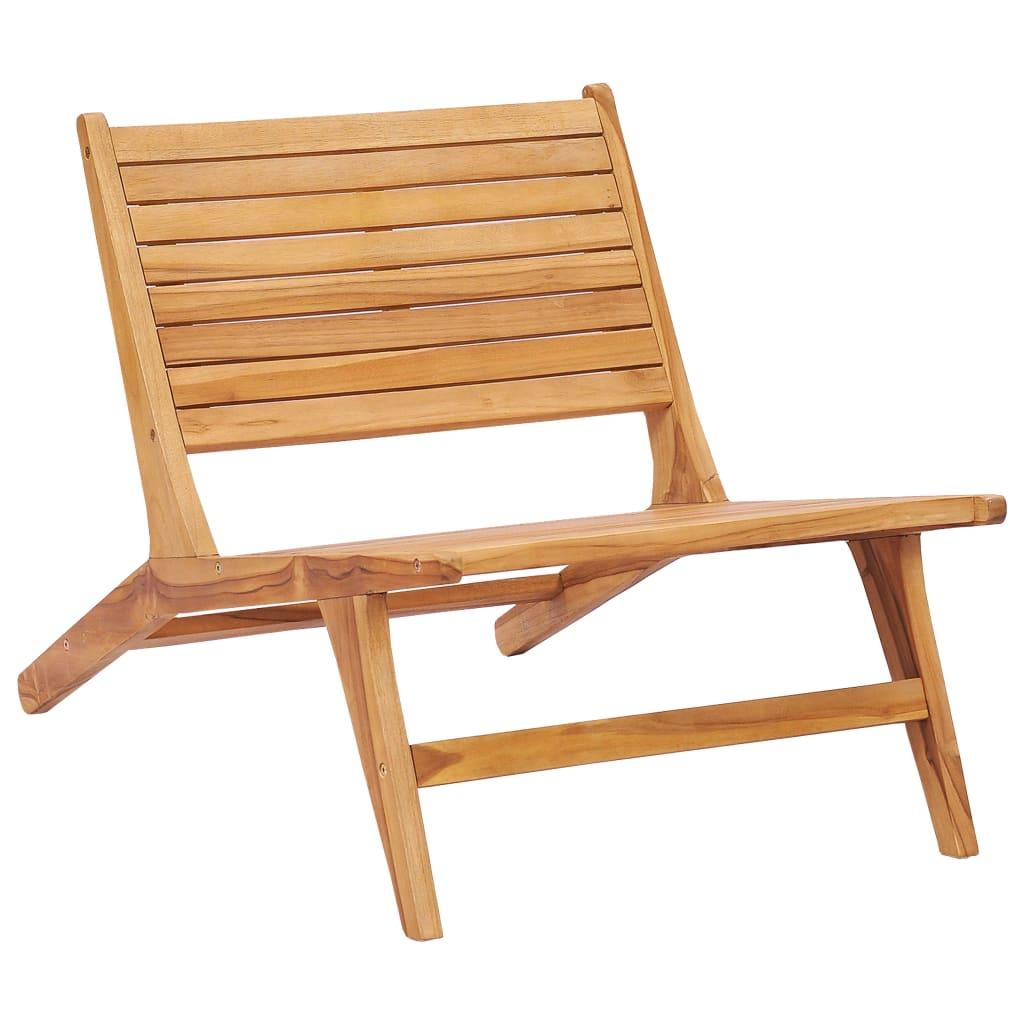 vidaXL Chaise de jardin Bois de teck solide