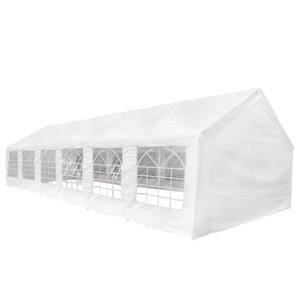 vidaXL Tente de réception Blanc 12 x 6 m