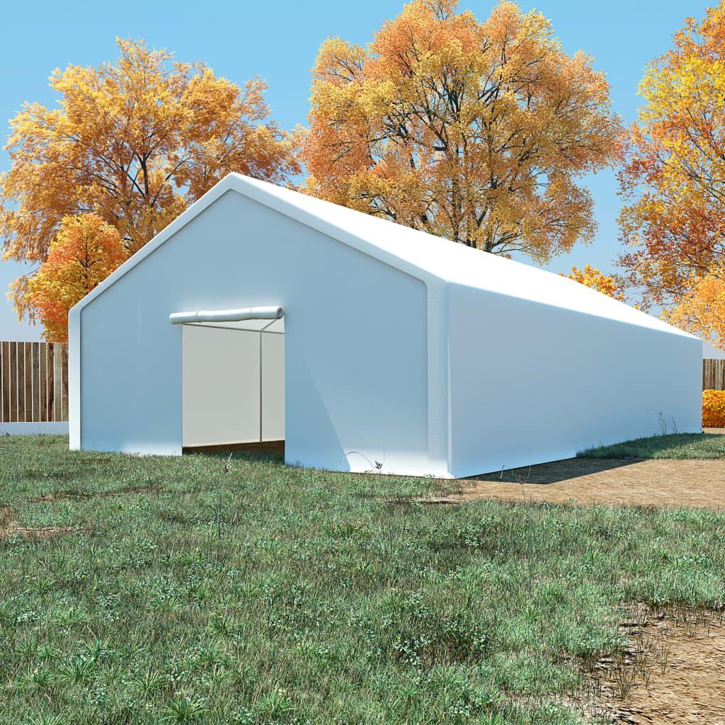 vidaXL Tente de rangement PE 6 x 12 m Blanc