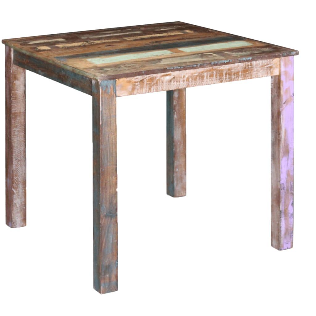 vidaXL Table de salle à manger Bois de récupération massif 80x82x76 cm