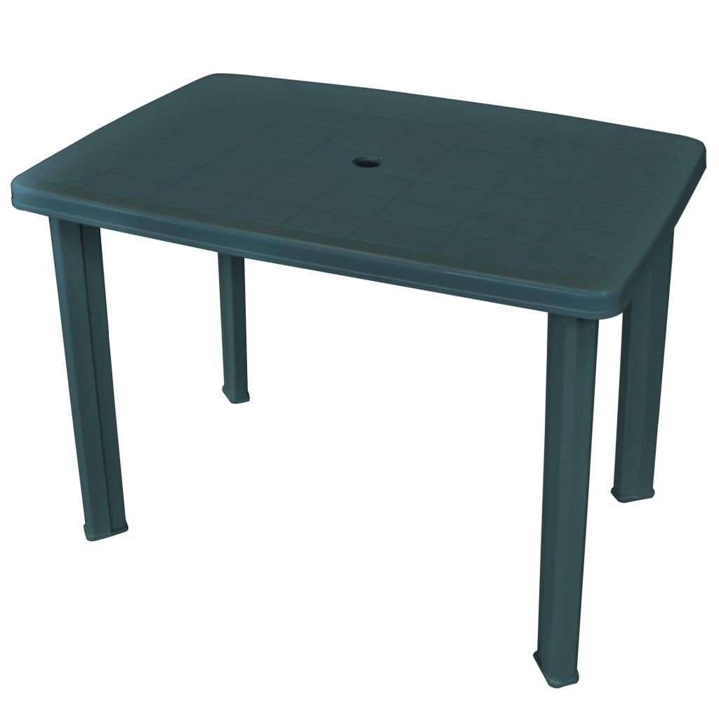 vidaXL Table de jardin Vert 101 x 68 x 72 cm Plastique