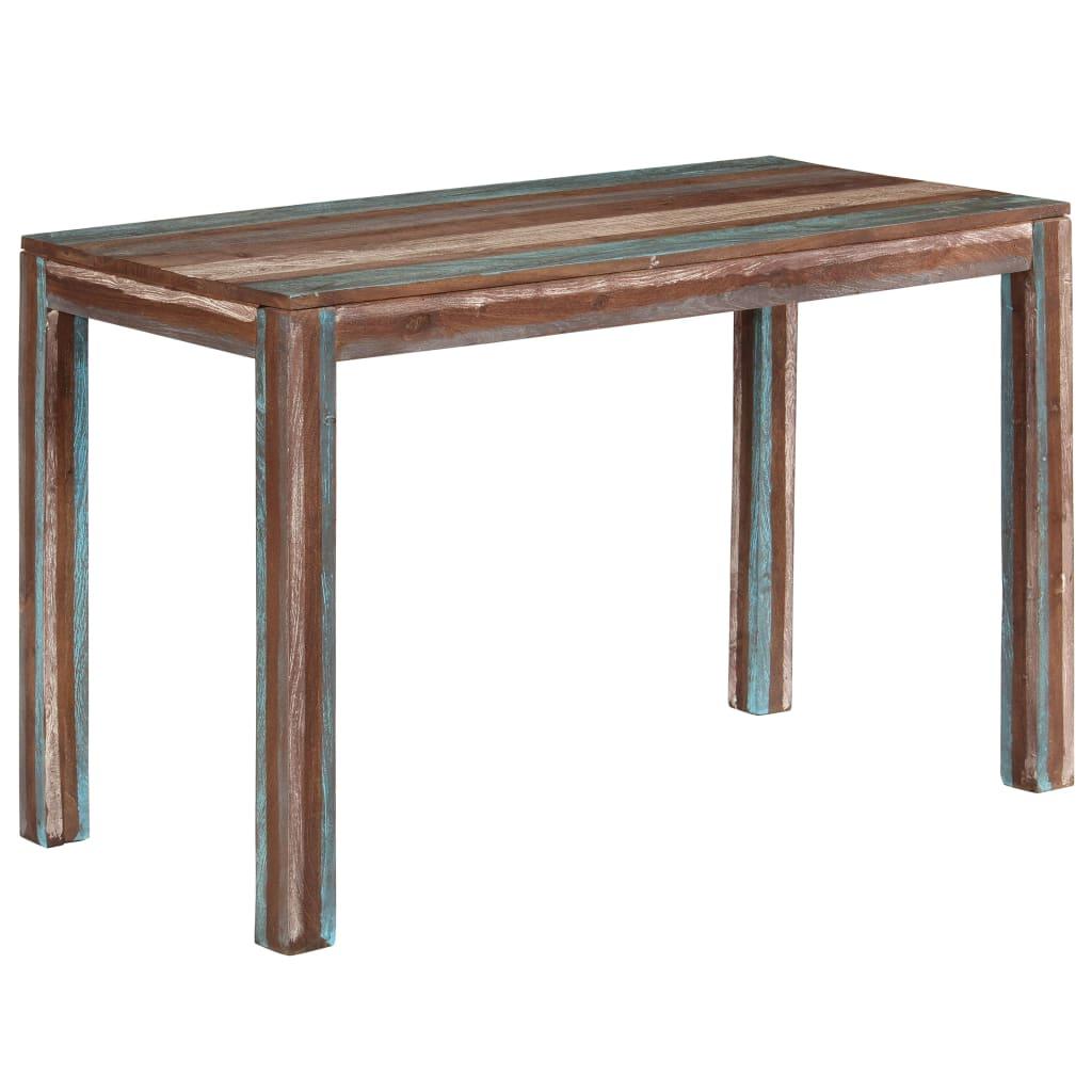 vidaXL Table de salle à manger Bois massif Vintage 118 x 60 x 76 cm