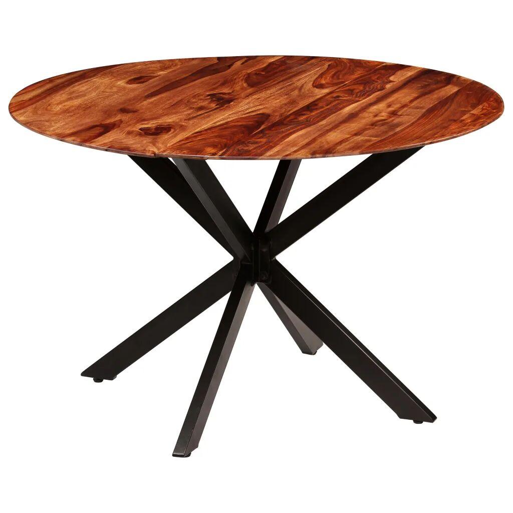 vidaXL Table de salle à manger Bois massif de Sesham 120 x 77 cm