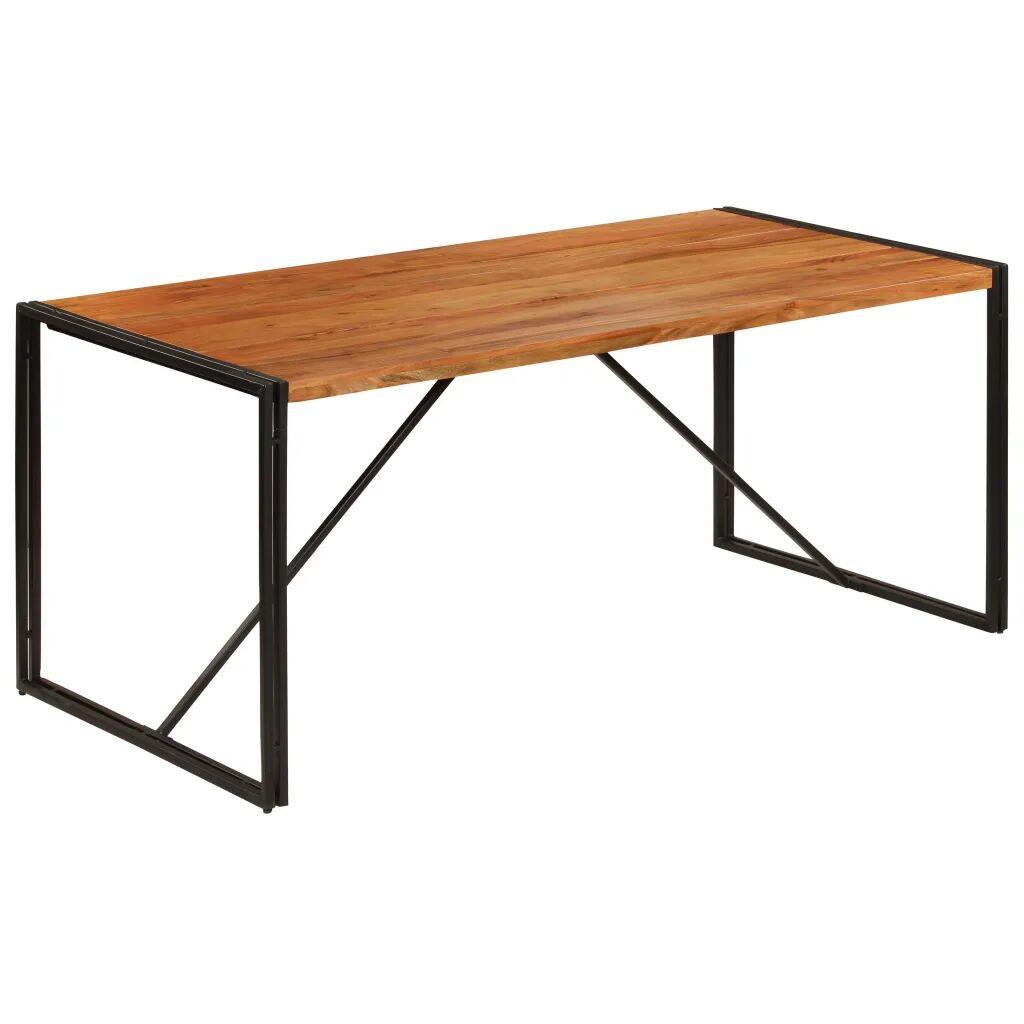 vidaXL Table de salle à manger Bois Acacia finition Sesham 180x90x76cm