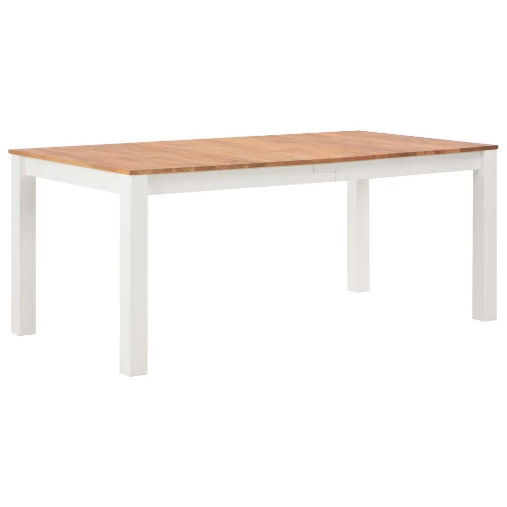 vidaXL Table de salle à manger 180x90x74 cm Bois de chêne solide